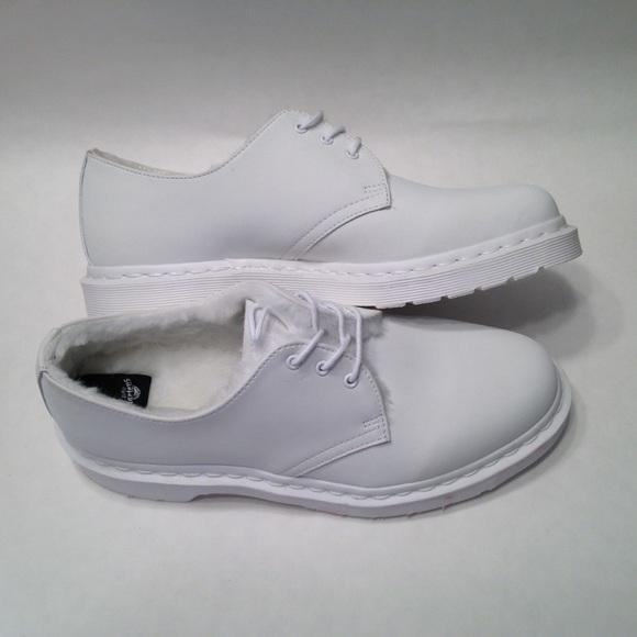 a6d061bb47cb dr marten Shoes - NEW WOMENS DR MARTEN 1461 MONO FUR LINED SHOE SZ 8